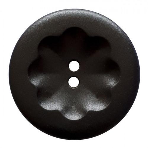 Muovinappi 2 reikää marbeled 20mm musta- Art.-Nr.: 281140