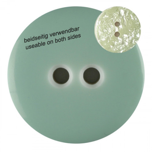 Polyester button with 2 holes 23mm light green - Art.-Nr.: 342811