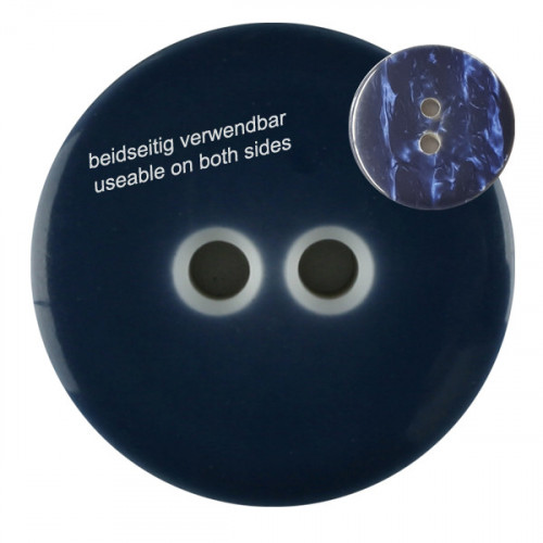 Polyester button with 2 holes 23mm navy - Art.-Nr.: 342806
