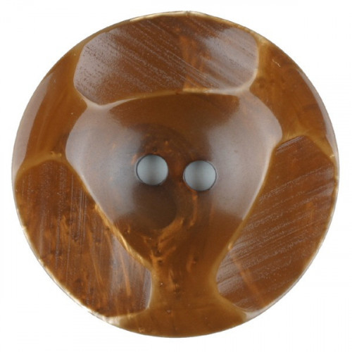 Polyester button round 2 holes 20mm brown - Art.-Nr.: 336701