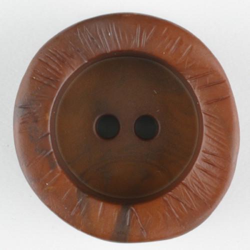 Muovinappi pyöreä 2 reikää 20 mm ruskea - Art.-Nr.: 314726