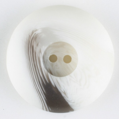 Polyester button round 2 holes 18mm  white - Art.-Nr.: 310905