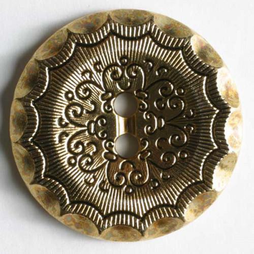 Muovinappi 23mm antiikki kulta - Art.-Nr.: 310315