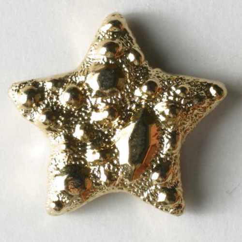 Fashion button star 14mm  gold-plated - Art.-Nr.: 280539
