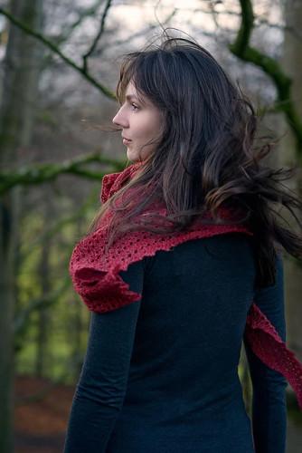 Elongated Triangular Lace Shawl Knitting Pattern PDF EN