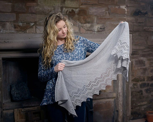 Lace Shawl Knitting Pattern PDF EN