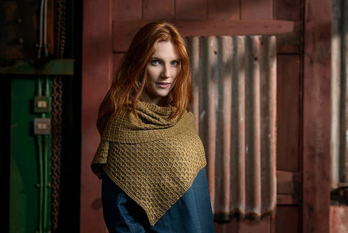 Textured Shawl Knitting Pattern PDF EN