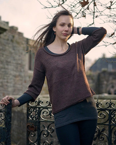 Boxy Sweater -neuleohje PDF EN