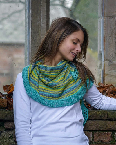 Crescent Shawl Knitting Pattern PDF EN