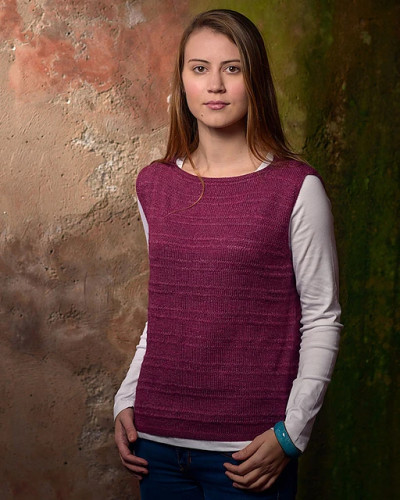 Drop Stitch Top Knitting Pattern PDF EN