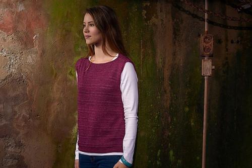 Drop Stitch Top Knitting Pattern PDF EN