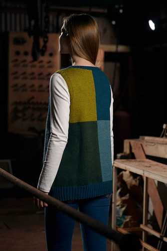 Colour Block Tunic -neuleohje PDF EN