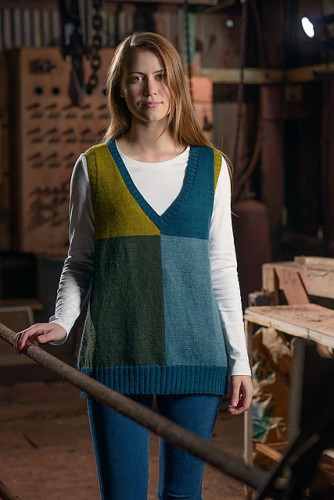 Colour Block Tunic Knitting Pattern PDF EN