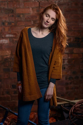 Long Cardigan Knitting Pattern PDF EN