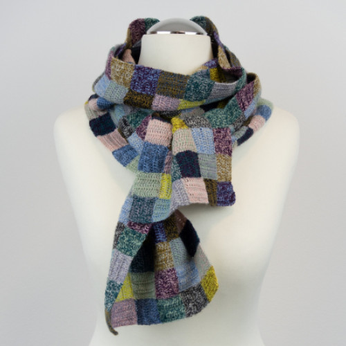 ITO Marled Patchwork Scarf Crochet Pattern