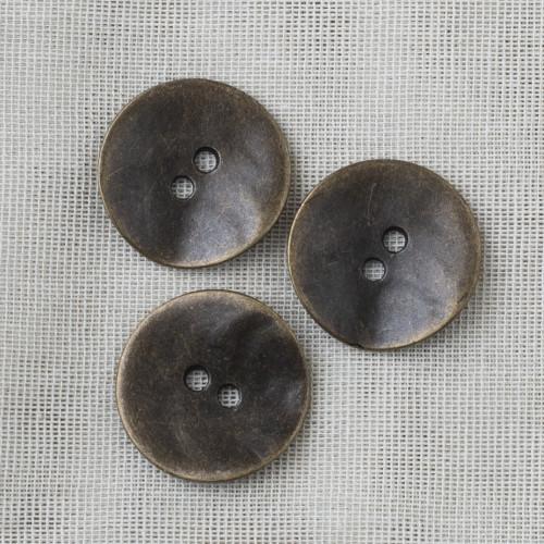 Round Metal Button 28mm - 02 Brass