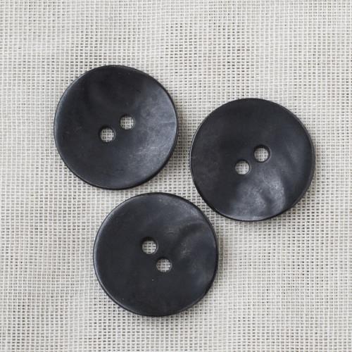 Pyöreä metallinappi 28mm - 01 mattamusta
