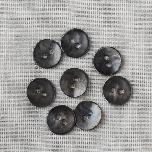 Pyöreä metallinappi 15mm - 02 hopea