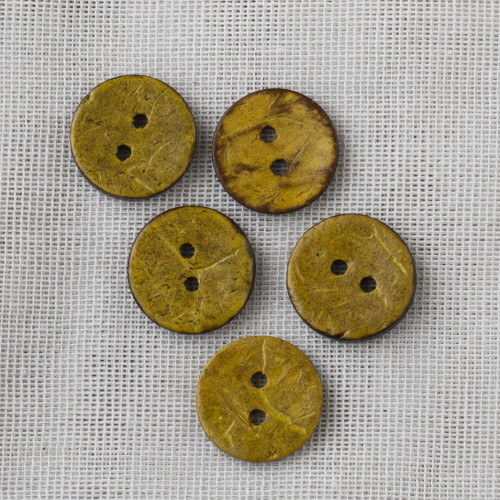 Coconut Button 18mm 03 yellow