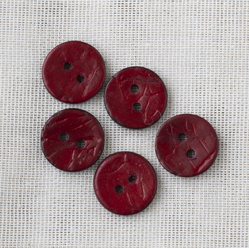 Coconut Button 18mm 10 bordeaux