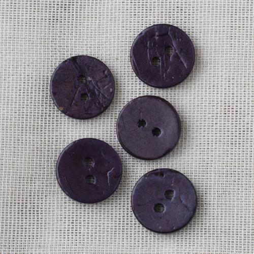 Coconut Button 18mm 11 purple