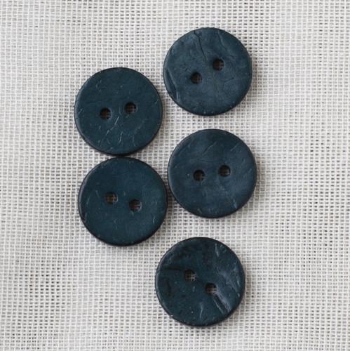 Coconut Button 18mm 12 Dark Petrol