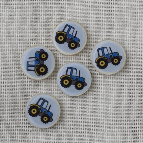 Kookos-hartsinappi 16 mm - sininen traktori