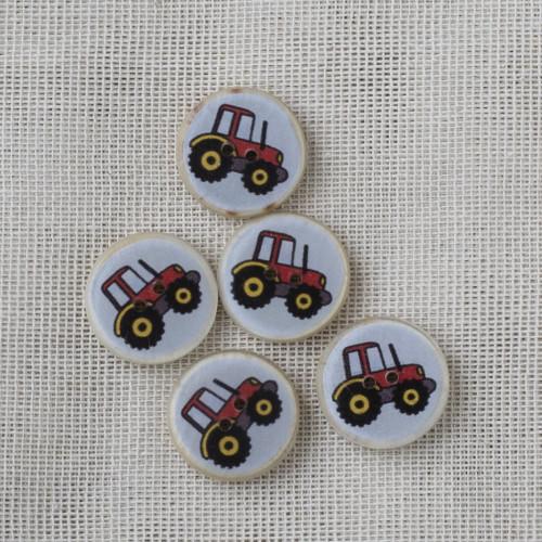 Kookos-hartsinappi 16 mm - punainen traktori