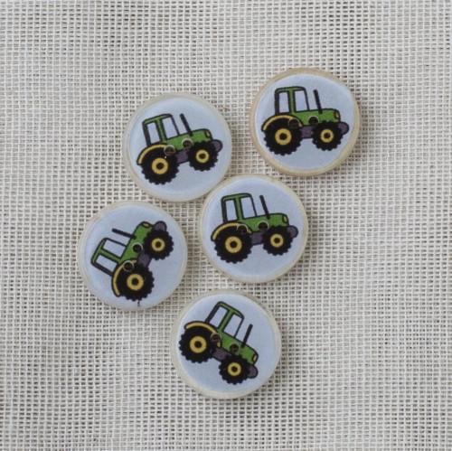 Kookos-hartsinappi 16 mm - vihreä traktori