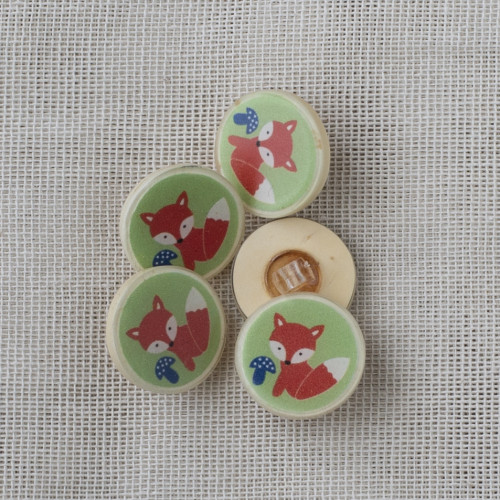 Coconut Resin Button with Shank 22mm Fox Green