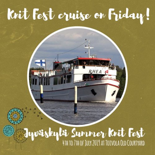 Jyväskylä Knit Fest Cruise on Friday 5.7.2019