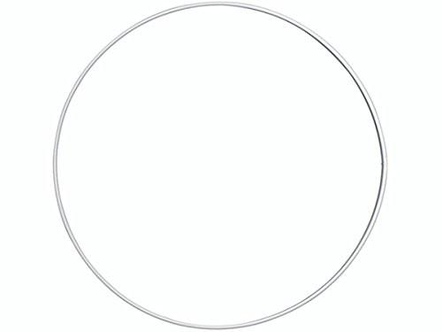 Valkoinen metallirengas 20 cm