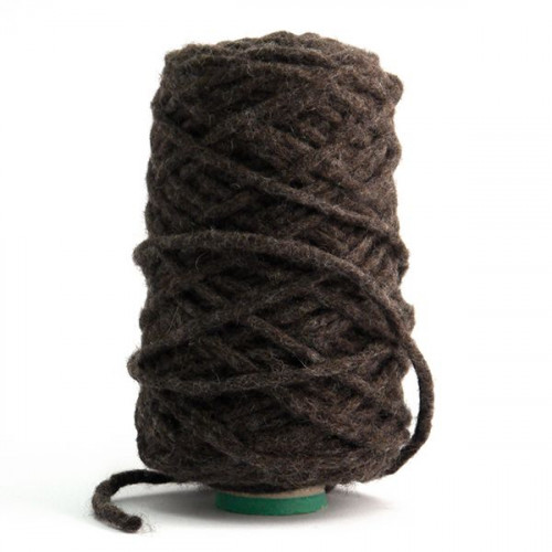 Felted Wool Yarn Brown