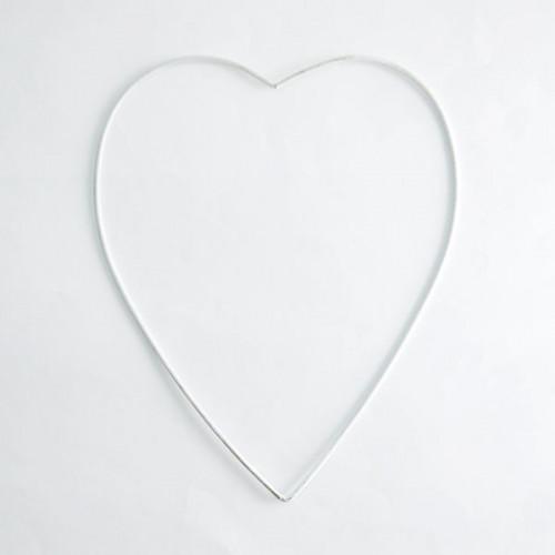 Sydän metallirengas 20 cm