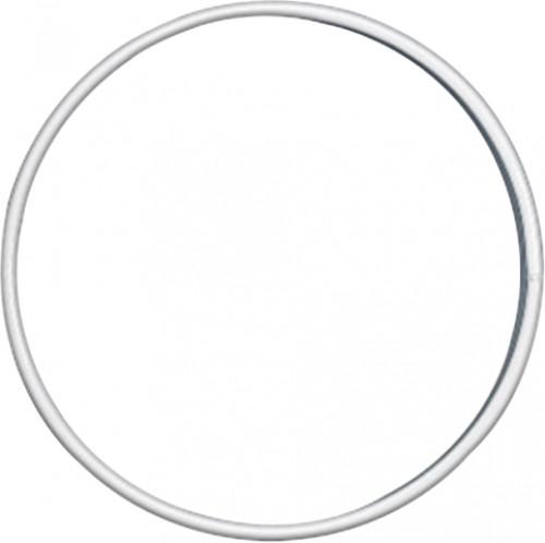 Valkoinen metallirengas 10 cm