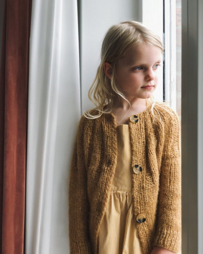 Sunday Cardigan JUNIOR by PetiteKnit -neuleohje EN