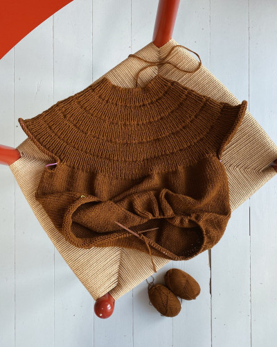 Anker's Sweater My Size by PetiteKnit pattern English