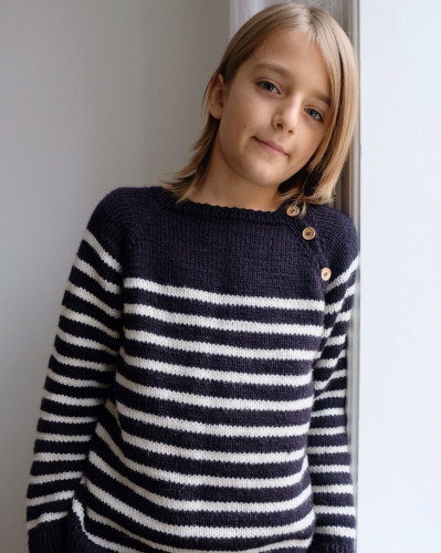 Seaside Sweater Junior by PetiteKnit -neuleohje EN