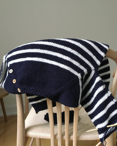 Seaside Sweater Junior by PetiteKnit -neuleohje EN