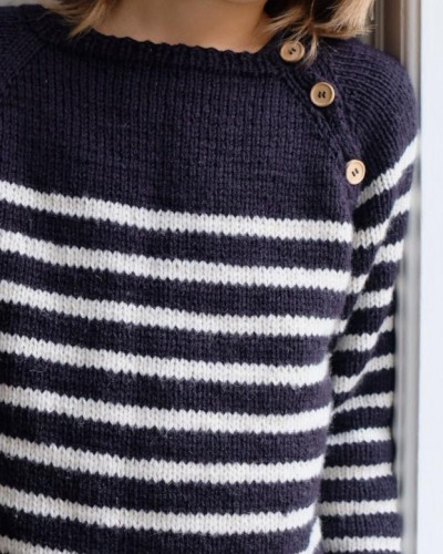 Seaside Sweater Junior by PetiteKnit pattern English