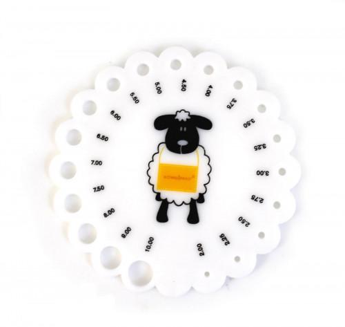 Scheepjes Needle Gauge white lamb