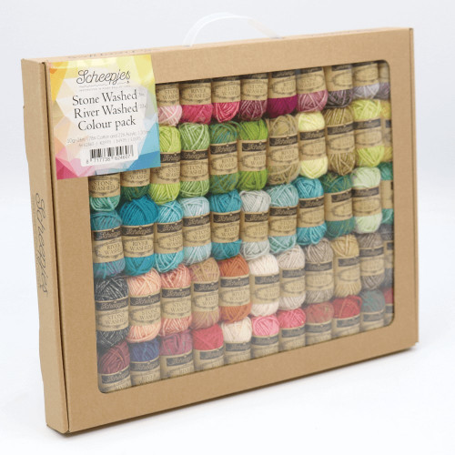 Scheepjes stonewashed River Washed Colour Pack 58x10g