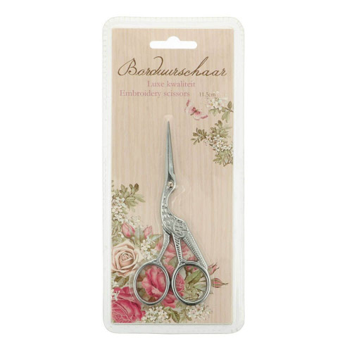 Embroidery Scissors Stork 11,5 silver