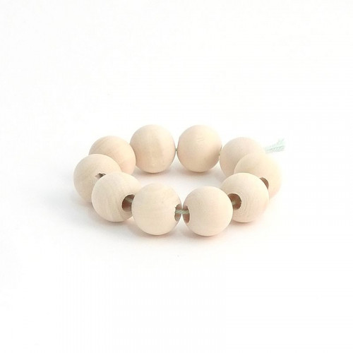 Small Wooden Beads 10 pcs - 2 cm