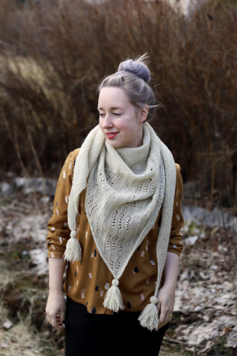 Onni Shawl Knitting Pattern Print Finnish