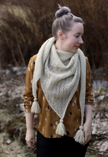 Onni Shawl Knitting Pattern Print English