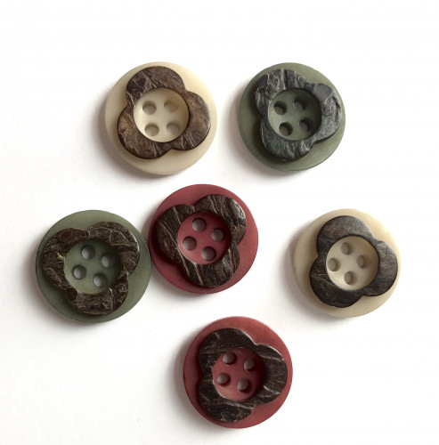 Stone nut button 18 mm