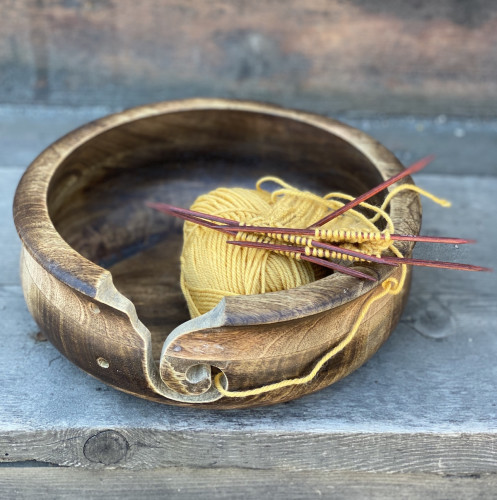 Blockwallah Large Wooden Yarn Bowl