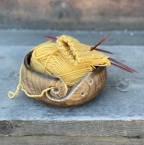 Blockwallah Small Wooden Yarn Bowl