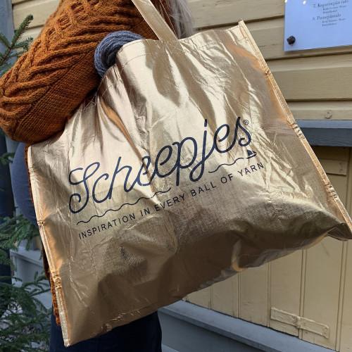 Scheepjes Foldable Bag Gold 46x37cm